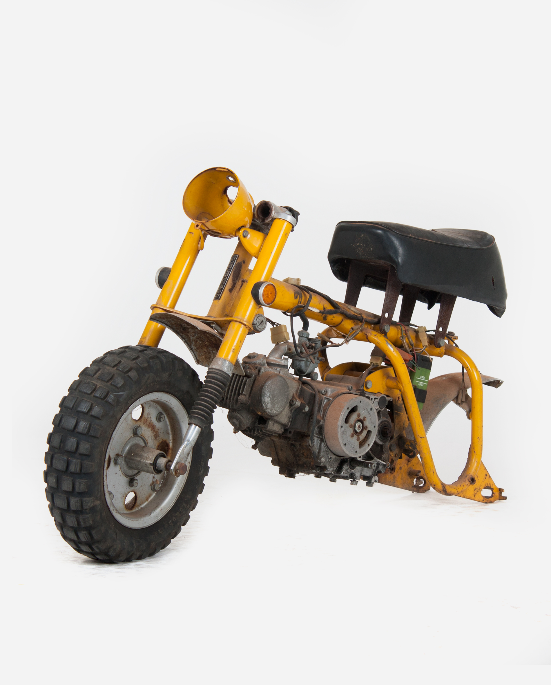 Honda-monkey-z50a-yellow-lv · Fourstrokebarn