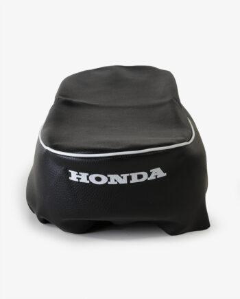 Buddydek Honda CD50 met witte bies 77201-CD50-zw_wb-3