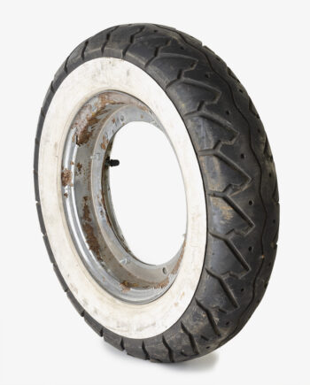 Whitewall tire on Dax rims (no. 4281)