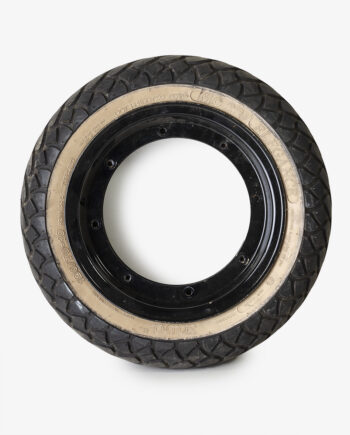 Whitewall tire on Dax rims (no. 4282)