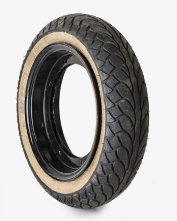 Whitewall tire on Dax rims (no. 4283)