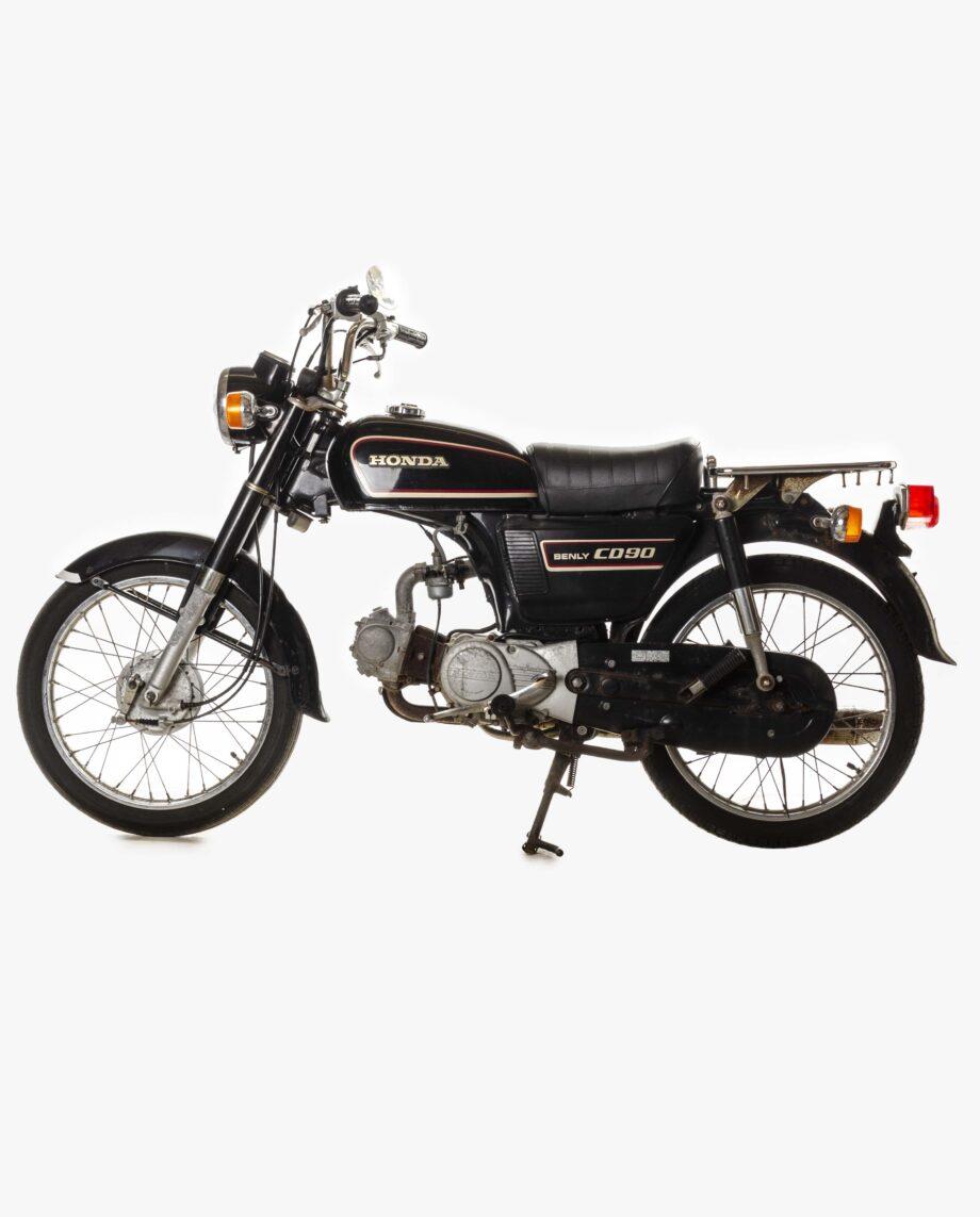 Honda Benly CD90 Zwart 7042PTX_1906