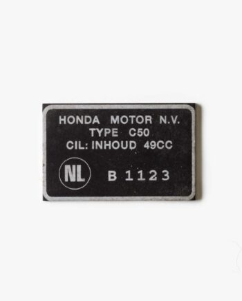 Type of approval plate Honda C50 EN B 1123