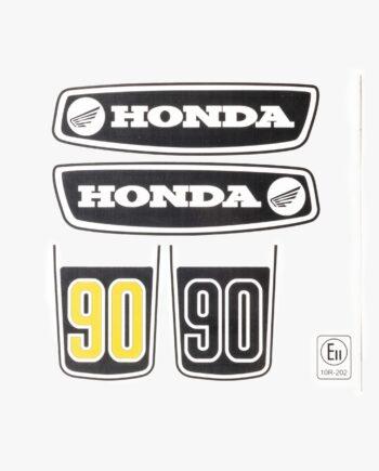 Stickerset Honda C90 Zwart geel