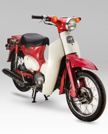 Honda C50L Little Cub Rood - 5343 km