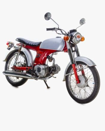 Honda Benly 50S Rood-Zilver - 36697 km - https://fourstrokebarn.com