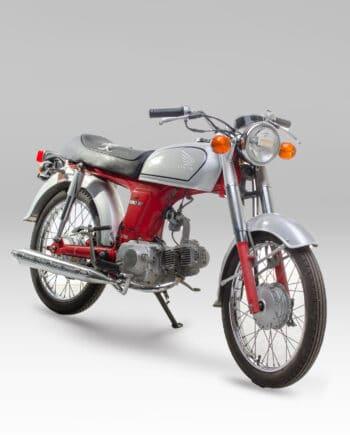 Honda Benly 50S rood-zilver C14_031